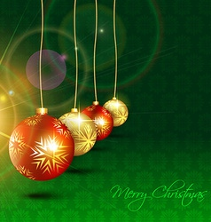 christmas hanging ball vector image