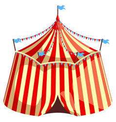 circus tent isolated on white background vector image