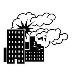 city bomb war icon simple style vector image