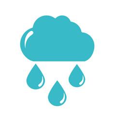 cloud rain drops water climate nature liquid blue vector image