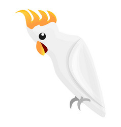cockatoo parrot icon cartoon style vector image