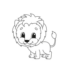 Coloring book pages for kids cute cartoon vector