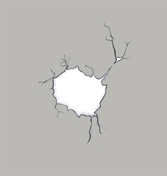 Crack concrete Hole vector