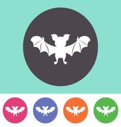Cute bat icon vector image