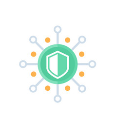 Cyber security icon data protection concept vector