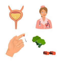 Design mellitus and diabetes symbol vector