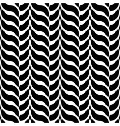 Design monochrome interlaced pattern vector