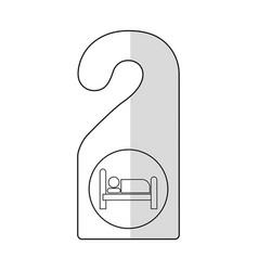 Door hook icon vector