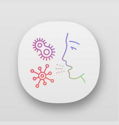 Dust allergy app icon vector