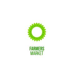 Farmers market emblem vector