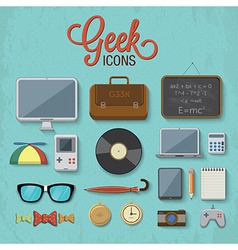 Geek accessories 2 vector image