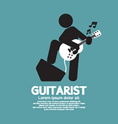 Guitarist Black Symbol Graphic vector image