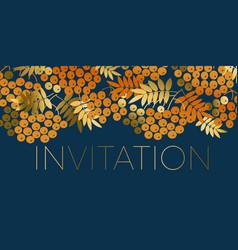Halloween or thanksgiving day elegant invitation vector