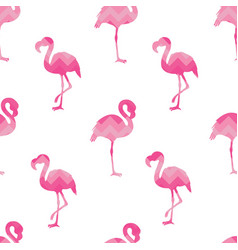 Hand drawn flamingo silhouette seamless pattern vector
