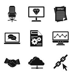 Highly qualified specialist icons set simple vector