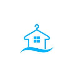 Home laundry logo icon design vector