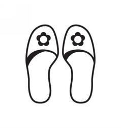 Home slippers icon vector image vector image