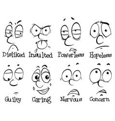 human expressions and words vector image