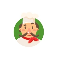 Italian Cook In Uniform vector