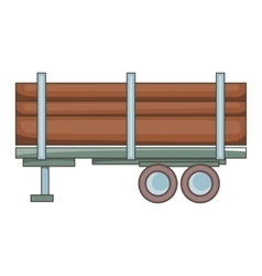 Logging truck icon cartoon style vector image