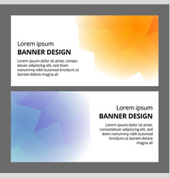 modern abstract banner background template design vector image