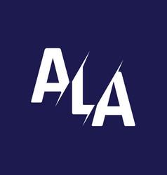 Monogram letters initial logo design ala vector