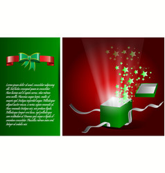 open magic gift box with shine vector image