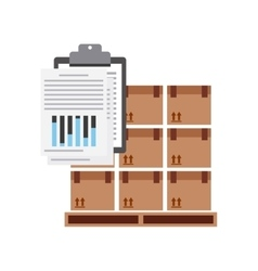 Package and check list icon Delivery and Shipping vector image
