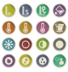 Plant Growing Icons vector