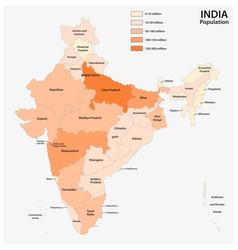 population map republic india vector image