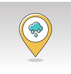 Rain Cloud Rainfall pin map icon Weather vector
