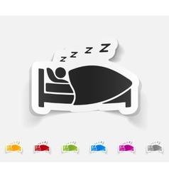 realistic design element sleep vector image
