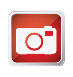 Red emblem camera icon vector
