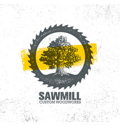Sawmill reclaimed wood artisan carpentry creative vector