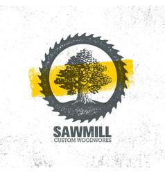 sawmill reclaimed wood artisan carpentry creative vector image