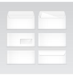 set white blank envelopes isolated vector image