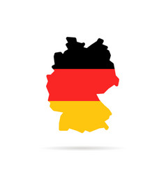 Simple color germany map with shadow vector