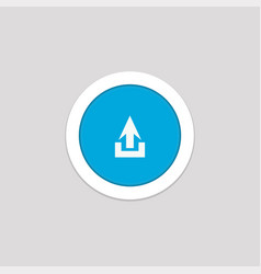 Simple upload button icon for cell phone element vector