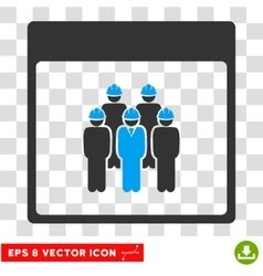 Staff Calendar Page Eps Icon vector