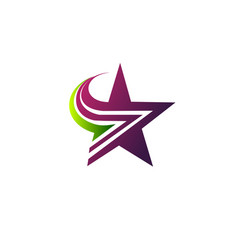 star logo design concept template vector image