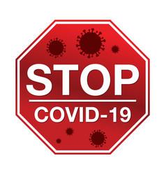 Stop covid-19 vector