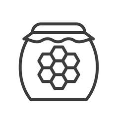 sweet honey jar simple food icon in trendy style vector image