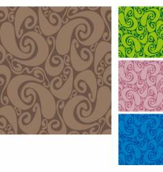 swirls pattern vector image