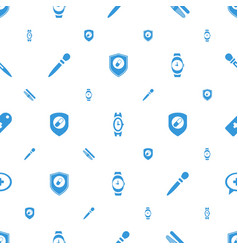 Swiss icons pattern seamless white background vector
