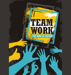teamwork business banner design vector image