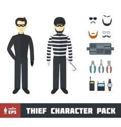 Thief Character Set vector image