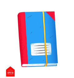 Top view of organizer notebook vector
