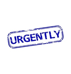 Urgently rubber stamp vector image