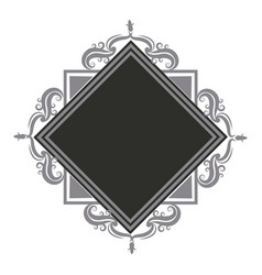 vintage border frame retro ornament pattern in vector image