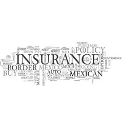 Why not buy mexican auto insurance in mexico text vector